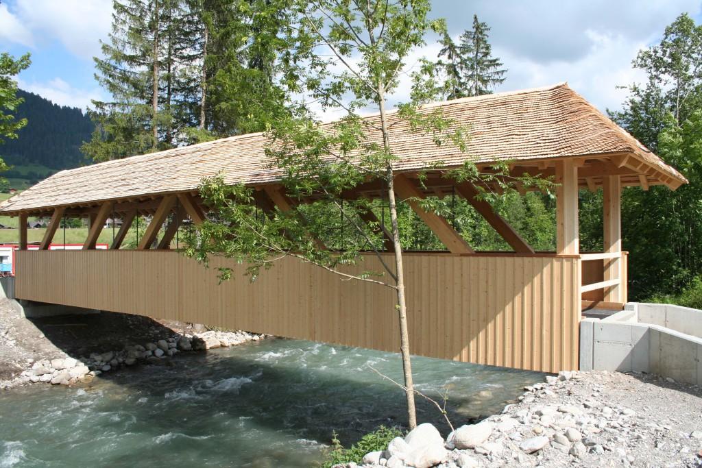 Reiterbrücke Mettlen - Zimmerei - Bach & Perreten