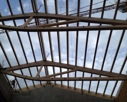 Werkhalle Bauwerk - Zimmerei - Bach & Perreten